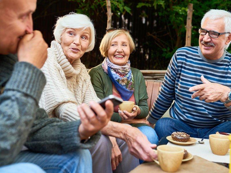 Kinderlose Senioren sind nicht einsam
